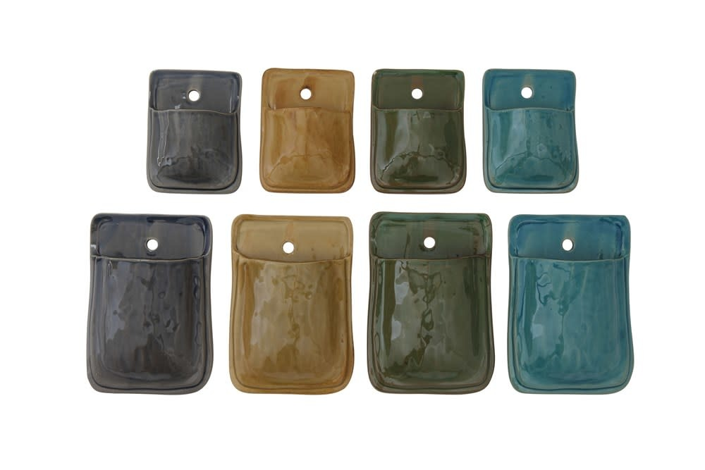 Fleurish Home Color Terra-cotta Wall Pocket: Choice of 4 Colors (LG 8x5.5)