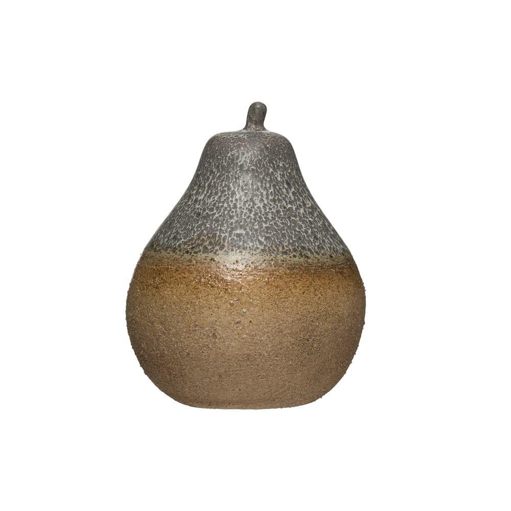 Fleurish Home Reactive Glaze Stonewear Pear (each one will vary)