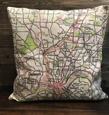 Fleurish Home Cincinnati Vintage Map Pillow