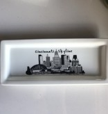 Fleurish Home Cincinnati Skyline Rectangular Plate