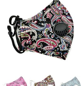 Fleurish Home Women's Fashion Mask with Vent & Filter Pocket (various)