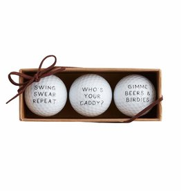 Mudpie WHOS YOUR CADDY GOLF BALL SET