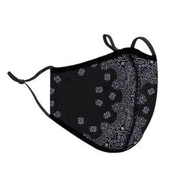 Top Trenz Bandana Print Fashion Mask w Filter Pocket (One Size Fits Most)