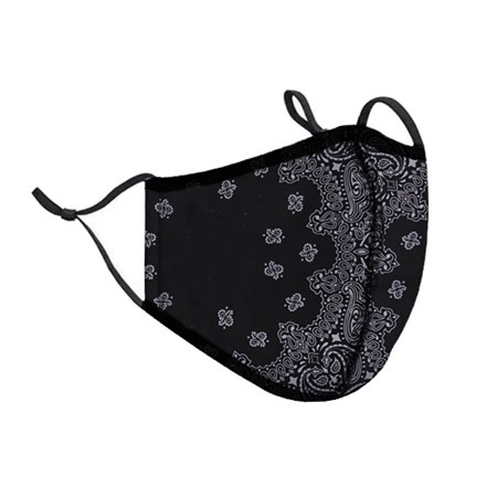 Top Trenz Bandana Print Fashion Mask w Filter Pocket 8+(One Size Fits Most)