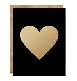Fleurish Home Black & Gold Heart Scratch Off Card