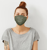 Fleurish Home SAY WHAT?! FASHION FACE MASK (choice of 9 sayings)
