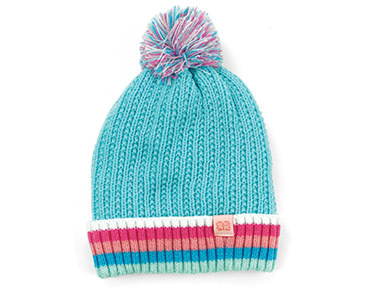 Fleurish Home PLAY ALL DAY PLUSH LINED KIDS POM HAT (choice of 5 colorways)