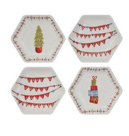Fleurish Home Hexagon Holiday Dish (choice of 4 whimsical designs)