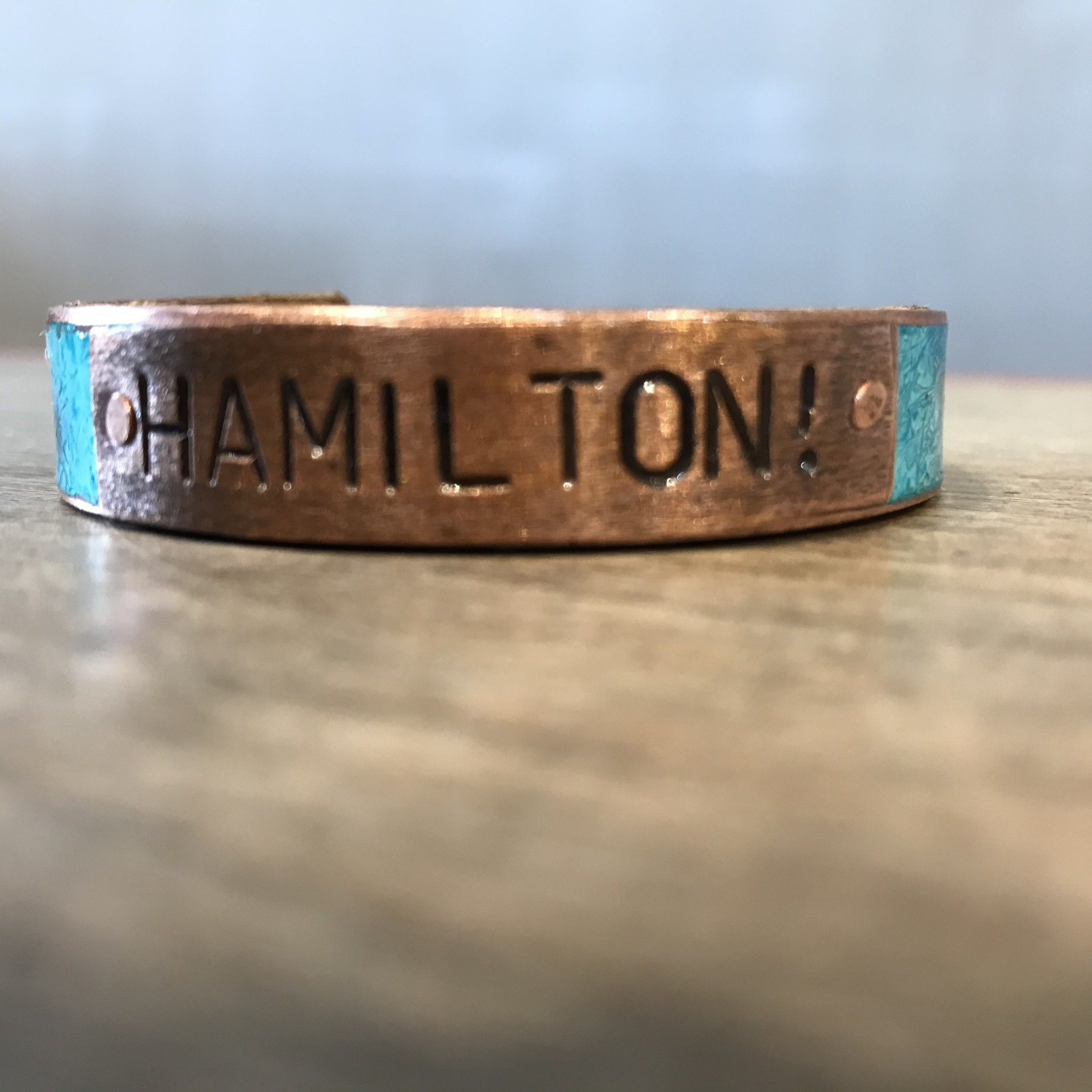 Fleurish Home Hamilton! Turqoise & Copper Cuff Bracelet