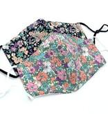 Fleurish Home Garden Floral Fashion Face Mask (black or pink)