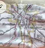 Fleurish Home Hamilton Map Fashion Face Mask