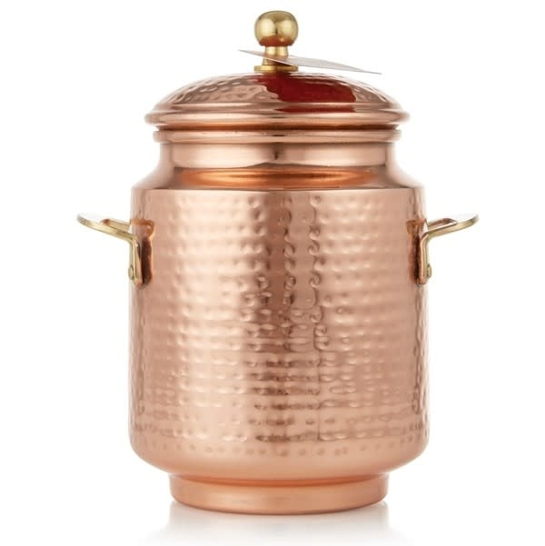 Thymes Simmered Cider Tall Copper Pot Poured Candle
