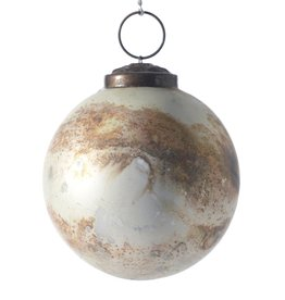 "Fleurish Home ""Eternal"" Glass Ball Ornament"