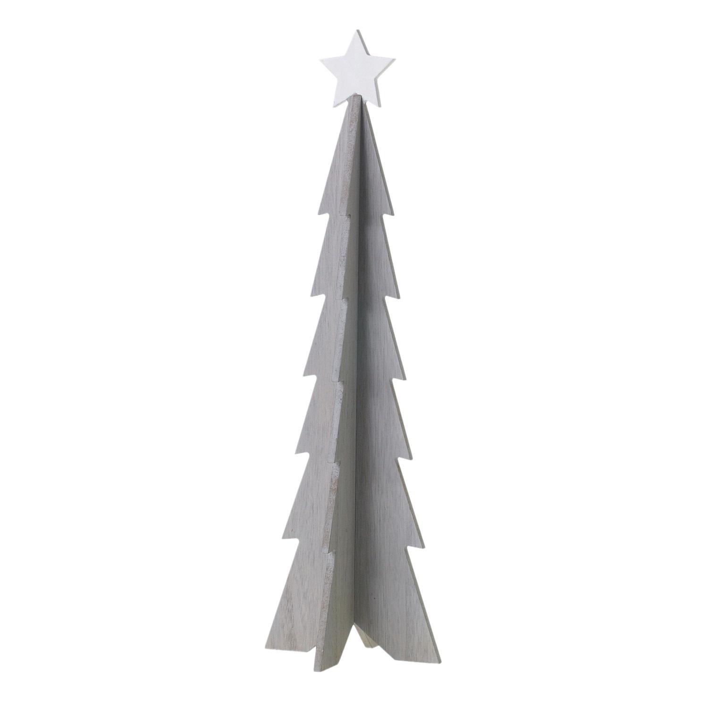 "Fleurish Home Medium White Star Tree (6""x 19.5"")"