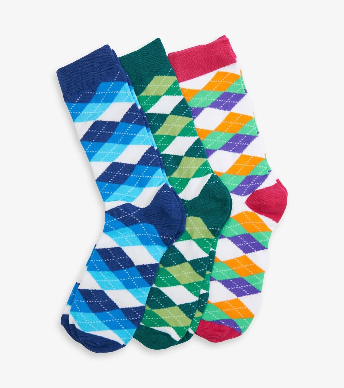 Hatley Wild Argyle Men's Crew Sock Set