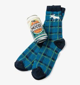 Hatley Loose Moose Men's Beer Can Socks