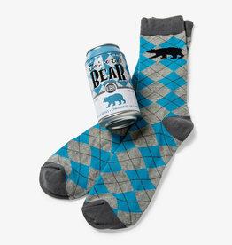 Hatley Ice Cold Bear Men's Beer Can Socks
