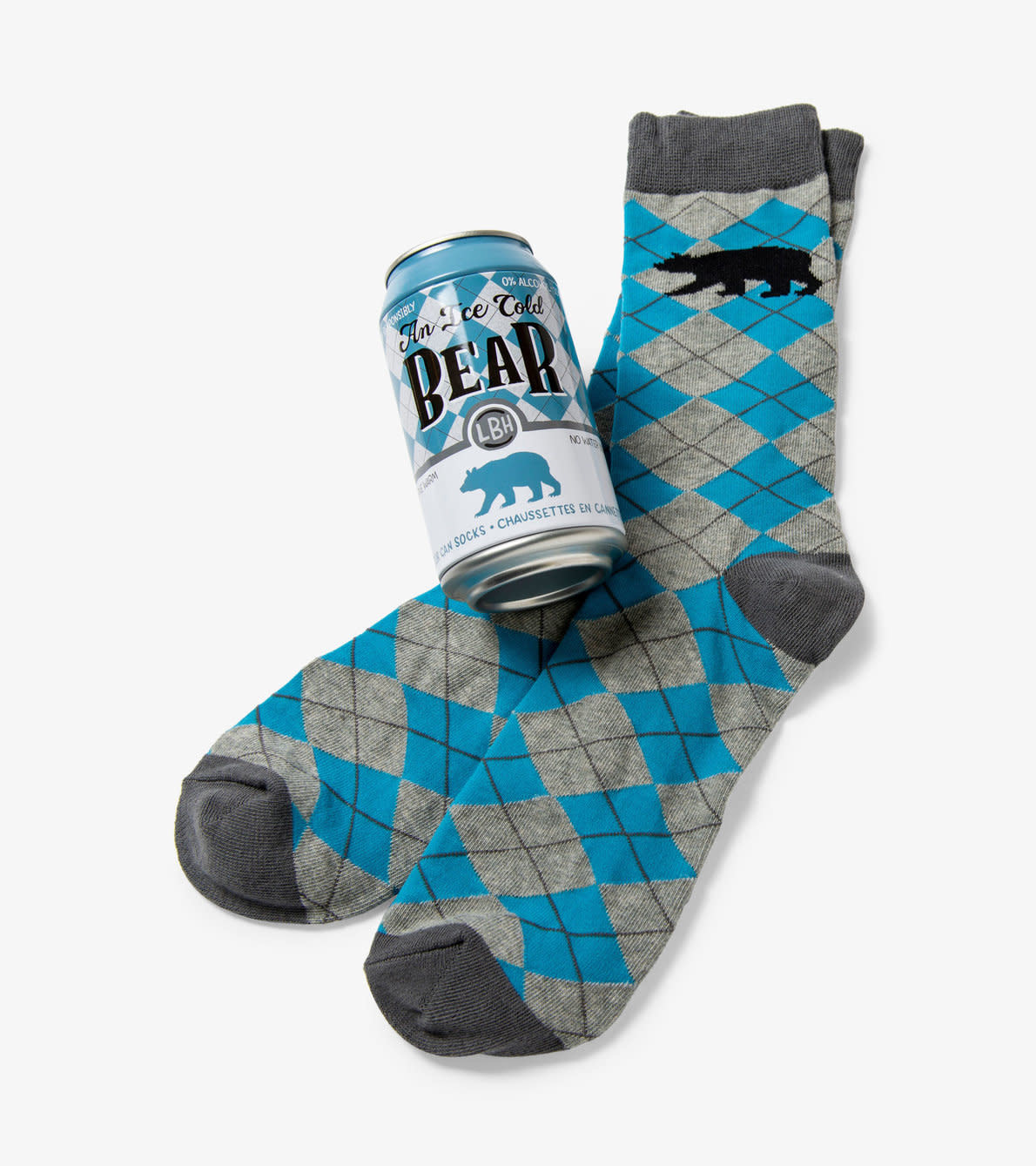 Hatley Ice Cold Bear Men's Beer Can Socks