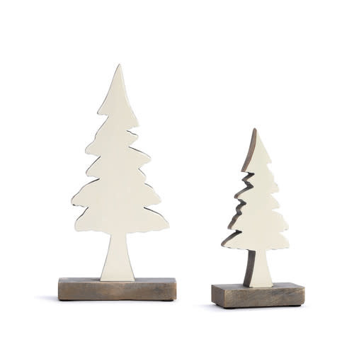 Fleurish Home Enameled Wood Tree Small