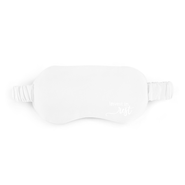 Fleurish Home Cream Satin Eye Mask - Invest in Rest