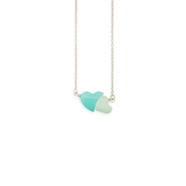 Sharon Nowlan Necklace - Double Heart (you & me)