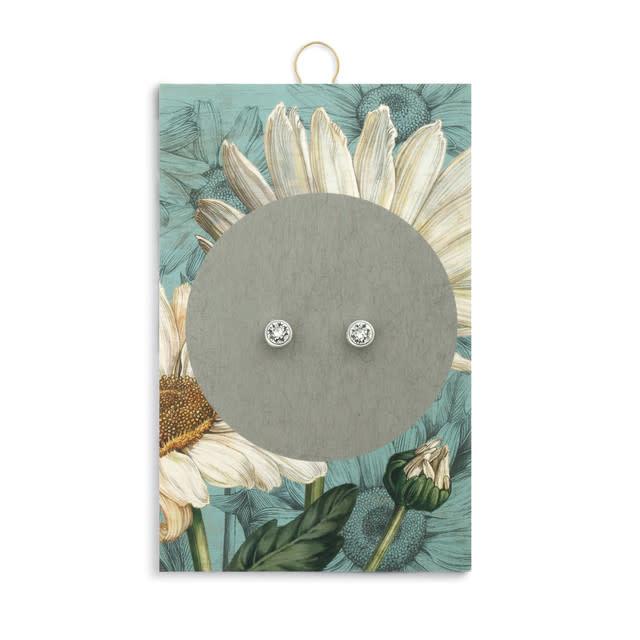 Fleurish Home Simply Birthstone Earrings - April