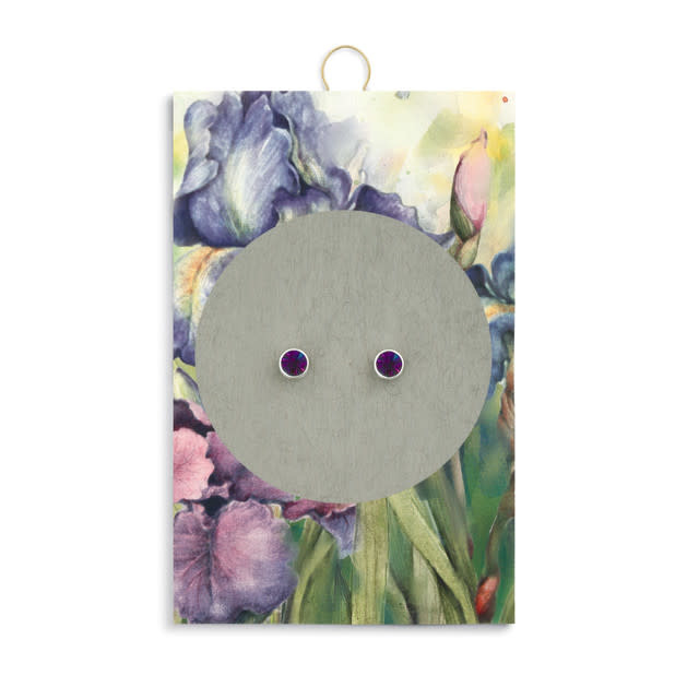 Fleurish Home Simply Birthstone Earrings - February