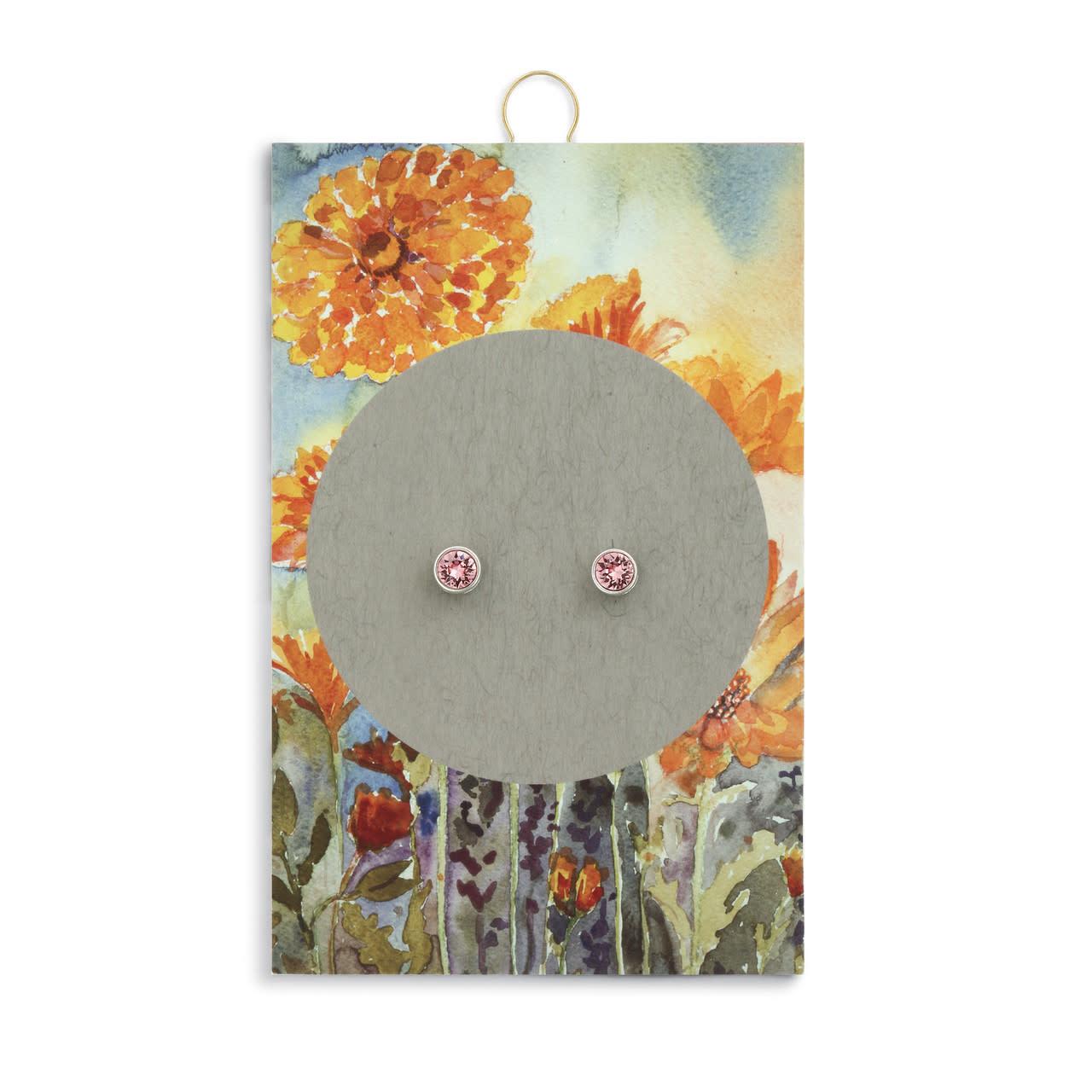 Fleurish Home Simply Birthstone Earrings - October