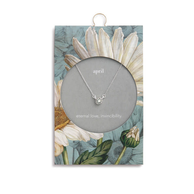 Fleurish Home Simply Birthstone Necklace - April/Diamond