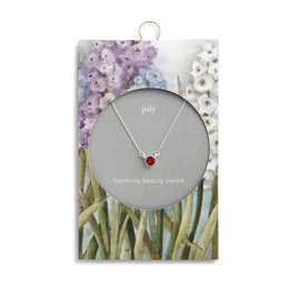 Fleurish Home Simply Birthstone Necklace - July/Ruby