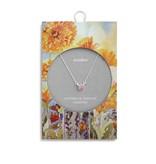 Fleurish Home Simply Birthstone Necklace - October/Pink Tourmaline