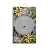 Fleurish Home Simply Birthstone Necklace - September/Sapphire
