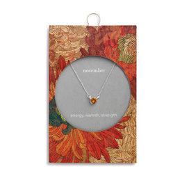 Fleurish Home Simply Birthstone Necklace - November/Topaz