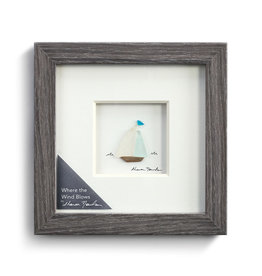 "Sharon Nowlan Where the Wind Blows Pebble Art  6"" Square"