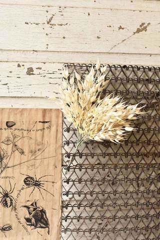"Fleurish Home 14"" Pearl Wheat Bush"