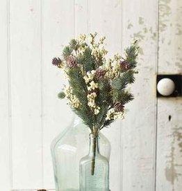 "Fleurish Home 15"" All Spruced Up Bush | Cream"
