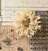 Fleurish Home Pearl Wheat Mini Wreath / Candle Ring