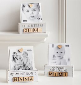 Mudpie NANA LETTER PHOTO BLOCK