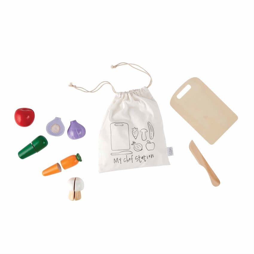 Mudpie CHEF STATION WOOD TOY PLAY SET