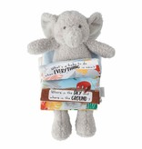 Mudpie BLUE ELEPHANT PLUSH BOOK
