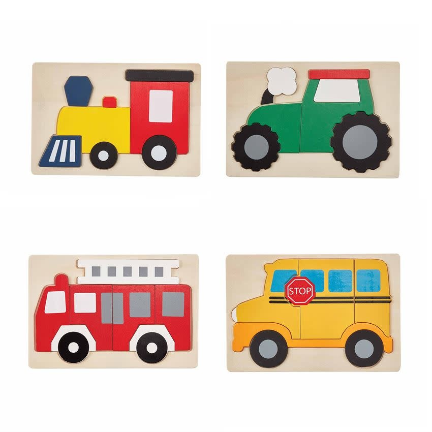 Mudpie FIRE TRUCK TRANSPORTATION PUZZLE