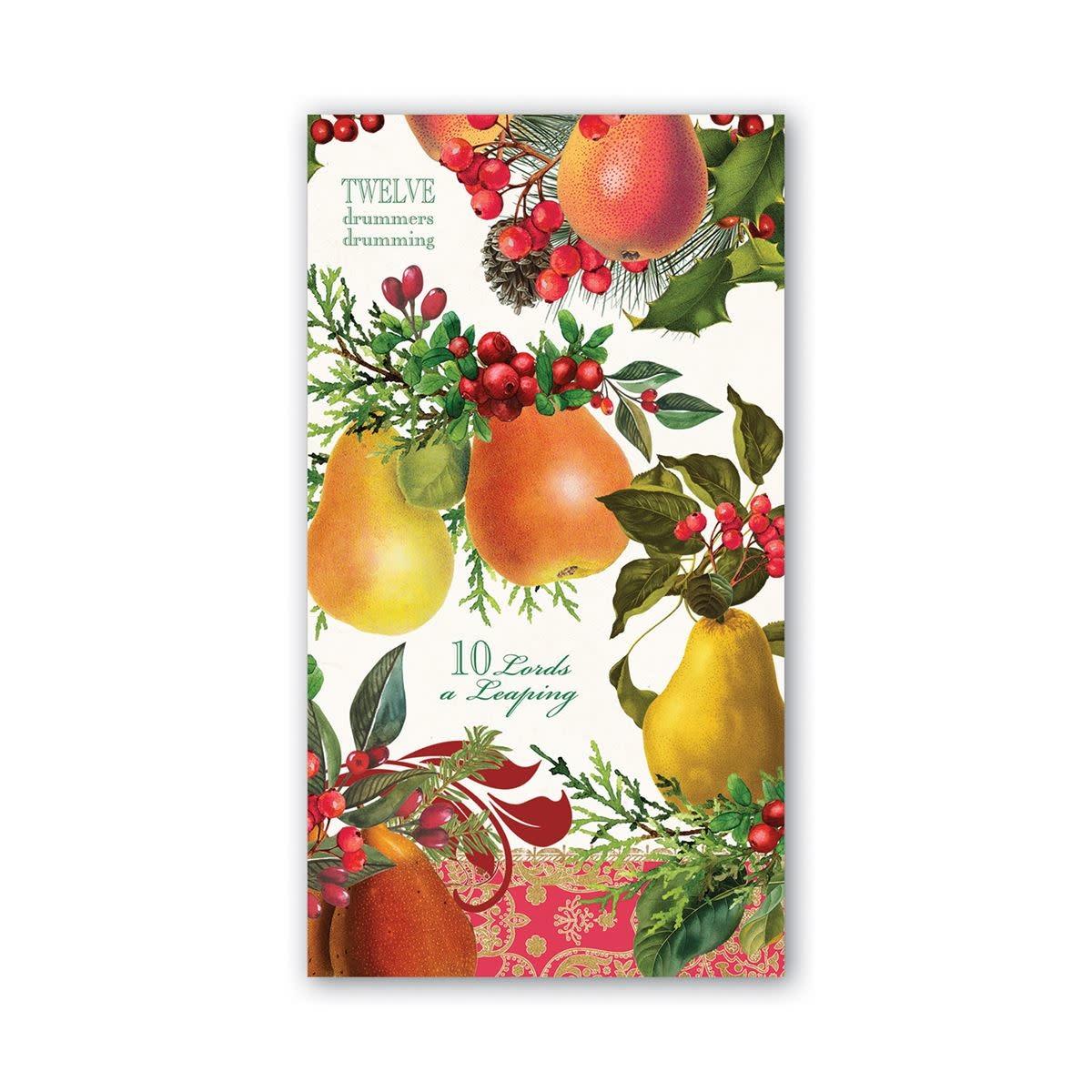 Michel Design Works In a Pear Tree Hostess Napkin