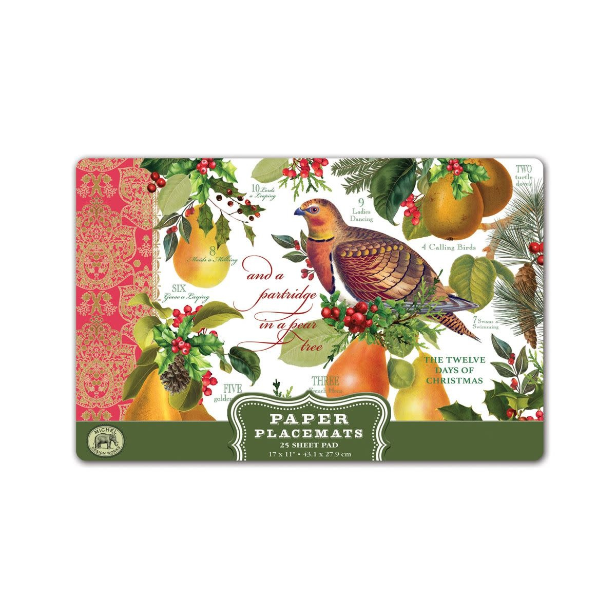 Michel Design Works In a Pear Tree Placemats