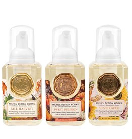 Michel Design Works Mini Foamer Soap Set (Fall Harvest, Sweet Pumpkin, Sunflower)