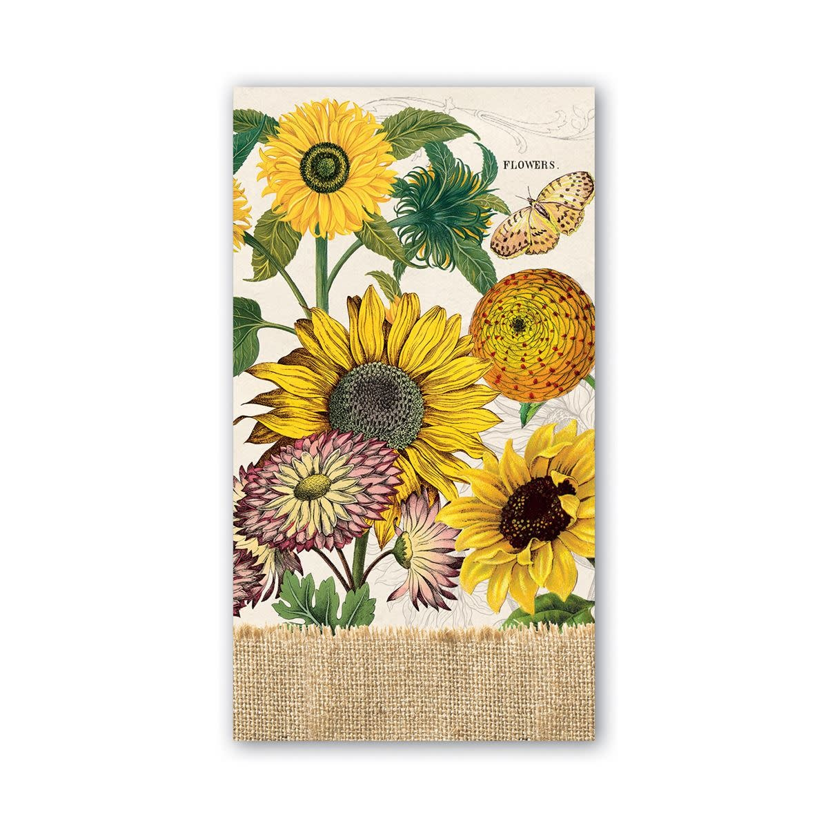 Michel Design Works Sunflower Hostess Napkin