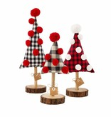 Mudpie LG BUFFALO CHECK FABRIC TREE