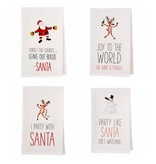 Mudpie PARTY WITH SANTA DRINKING TOWEL