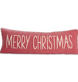 Mudpie MERRY CHRISTMAS WASHED CANVAS PILLOW