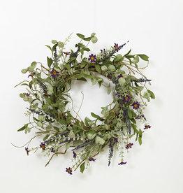 """Fleurish Home Lavender Herbs Wreath 24"""" *last chance"""