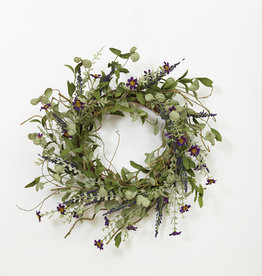 Fleurish Home Lavender Herbs Wreath 24""